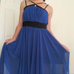 NWT FOREIGN EXCHANGE ROYAL BLUE ASSYMETRICAL DRESS